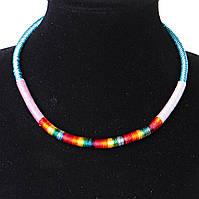 Украшение на шею Африка текстиль Голубой Ассорти, фото 1
