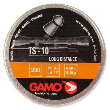 Остроголовые пули для пневматического оружия. Пули Gamo TS-10. Пули 0,68г., 200 шт/уп.