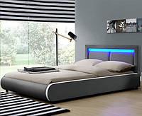 Кровать двуспальная MURC 180х200 см. с LED подсветкой, фото 1