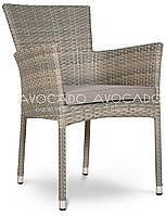 Кресло плетеное LERIDA  57X62X84 cm серо-бежевое