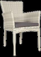 Кресло плетеное LERIDA  57X62X84 cm  бело-серое