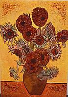 Картина из янтаря Подсолнухи Ван Гога
