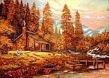 Картина из янтаря Домик в лесу, фото 2