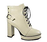 Ботильоны ботинки женские бежевые Gotti топ продаж