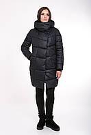 Женская зимняя куртка прямого силуэта 203 т.т.синий, фото 1