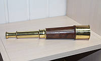 Большая сувенирная подзорная труба. Подарок в морском стиле