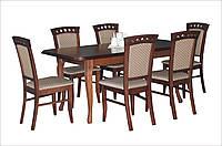 Стол деревянный раскладной гостиная/ кухня Премьер 160(+40)х90 (орех)