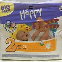 Подгузники детские Happy Midi (2) от 3-6 кг 78шт NEW