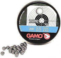 Пули Gamo. Пули Gamo Round 0,53 г 4,5 мм 250 шт/уп. Пули шар для стрельбы, для пневматики.