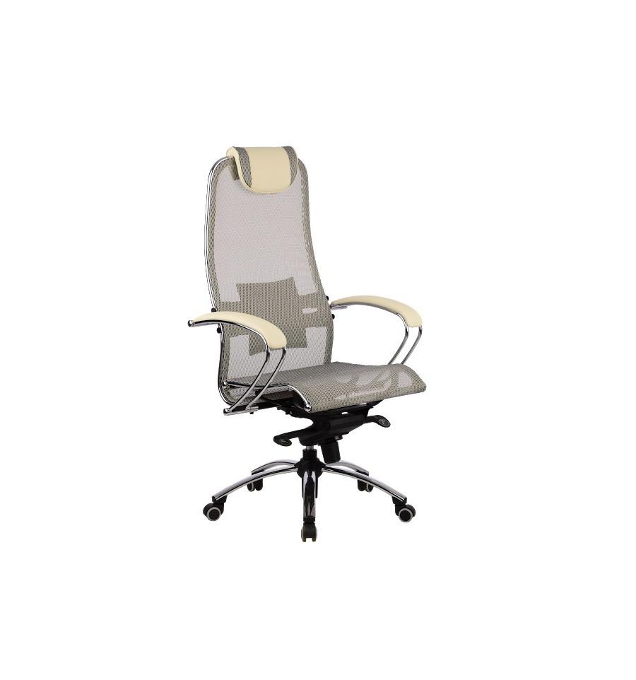 Кресло Metta Samurai S1 Grey+Beige Для Руководителя