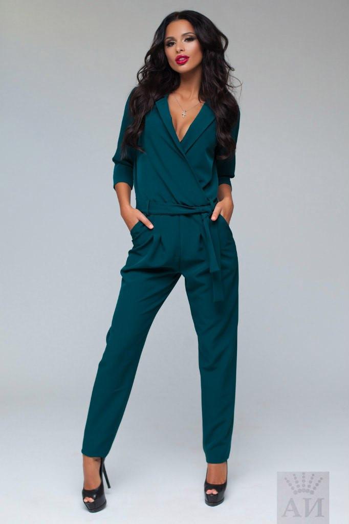 12efda8495e Стильный брючный комбинезон - Стильная женская одежда оптом