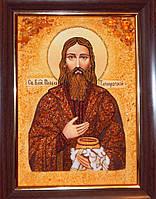 Икона из янтаря Святой Павел Таганрогский