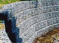 Подпорная стенка из габионов