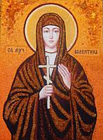 Икона из янтаря Святая мученица Валентина