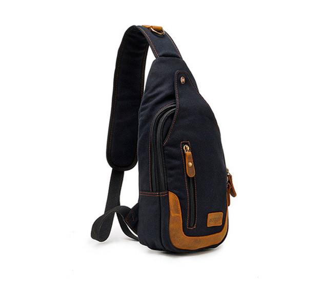 Рюкзак через одно плечо Augur | черный | вид сбоку