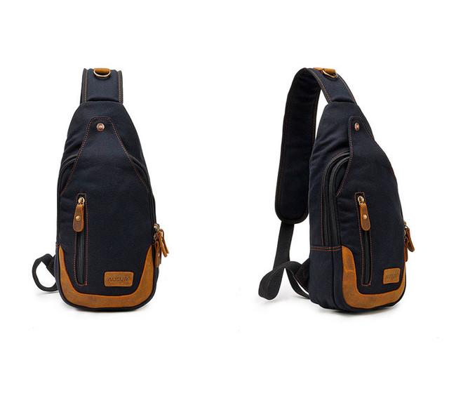 Рюкзак через одно плечо Augur | черный | общий вид