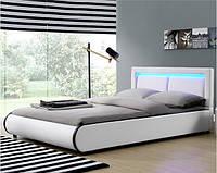 Кровать кожаная MURC 180х200 см. с LED подсветкой