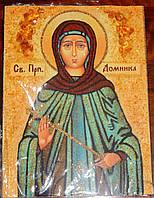 Иконы из янтаря Святая Преподобная Домника