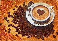 Картина из янтаря Чашечка с кофе
