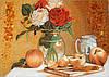 Картина из янтаря Натюрморт с розами
