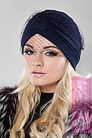 Женская элегантная шапка с вуалью в разных цветах