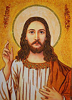 Икона из янтаря Иисус Христос