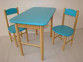 Детский стол + 2 стула, цвета на выбор, фото 3