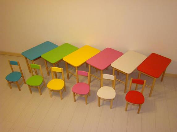 Детский стол + 2 стула, цвета на выбор, фото 2