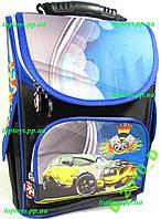 Рюкзак каркасный ортопедический школьный для мальчика, с гонкой