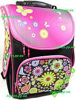 Рюкзак каркасный ортопедический школьный девочки, цветы
