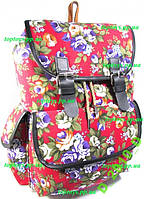 Рюкзак женский городской молодёжный цветы. Хит!