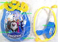 Пистолет водный детский водяной c рюкзаком Frozen