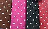 Портьерно-декоративная ткань горох белый, фон бордо, фото 2