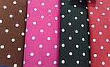 Портьерно-декоративная ткань горох белый, фон фуксия, фото 2