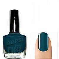 OOPS! Лак для ногтей с эффектом гель-лака (тёмно-синий) № 21