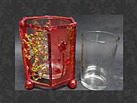Подсвечник металлический со стаканом