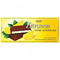 Шоколад черный Böhme Zitronen Creme Schokolade с лимонной начинкой 100г, фото 1