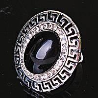 Кольцо безразмерное Греческий страза Агат