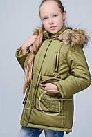 Модная зимняя куртка  парка для девочки X-Woyz 8236