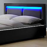 Елегантна ліжко MURC 140х200 см з LED підсвічуванням, фото 2