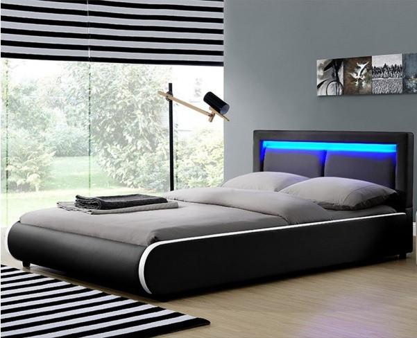 Елегантна ліжко MURC 140х200 см з LED підсвічуванням
