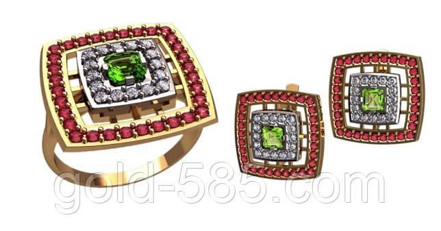 82ad530750f0 Превосходный женский золотой ювелирный комплект   продажа, цена в ...