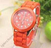 Наручные женские силиконовые часы Geneva в наличии