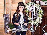 Джинсовый пиджак для девочки ТМ МОНЕ