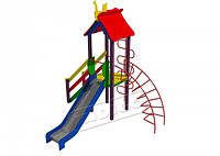 Детская игровая площадка Петушок, высота горки 1,2 м
