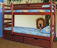 """Двухъярусная кровать """"Дуэт"""" из массива"""
