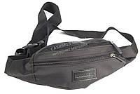 Удобная черная мужская сумка на пояс WALLABY art. 2902 Украина