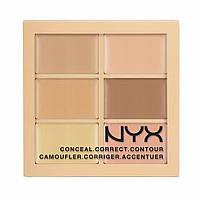Палитра консилеров NYX color correcting palette 3CP01