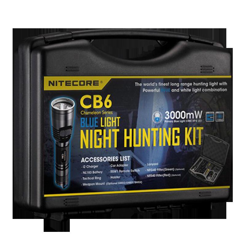 Набір для нічного полювання Nitecore CB6, 440 люмен, 190 метрів, 1х18650