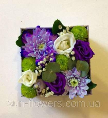Коробка с цветами-микс